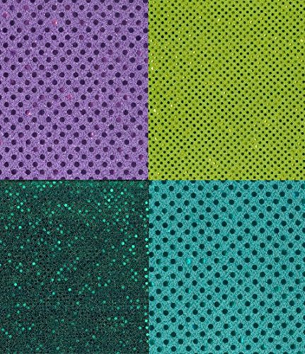 - 4 Sequin Dots Fabric Hair Scrunchies Scrunchie Jade Mint Lime Green Lavendar Handmade by Scrunchies by Sherry