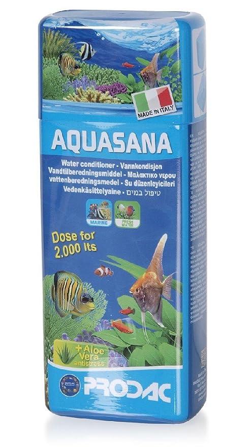 Prodac Aquasana con aloevera- acondicionador de agua para acuarios 250ml