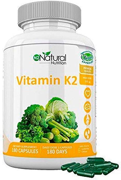 Vitamina K2 MK7. Suplemento Natural . Protege Corazón, Cerebro ...