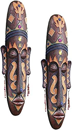 Design Toscano Grand Scale Tribal Wall Mask Set of 2