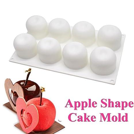 Amazon.com: katoot 8 manzanas Pastel de silicona molde de ...