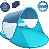 ISILER Pop Up Beach Tent, Automatic Instant 3-4 Person Sun Shelter, Portable Outdoor Beach Shade Tent, UV Protection…