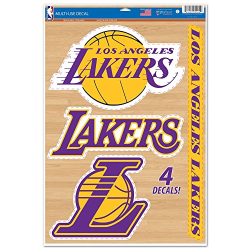 NBA Los Angeles Lakers WCR42574014 Multi-Use Decal, 11'' x 17'' by WinCraft