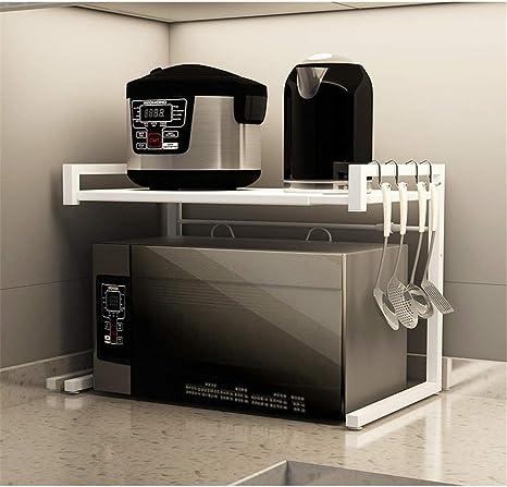 DYecHenG Estante de microondas Cocina Microondas Plataforma encimera de Dos Capas Soporte Pequeños Electrodomésticos Plataforma de Almacenamiento del gabinete para la organización de la Cocina: Amazon.es: Hogar