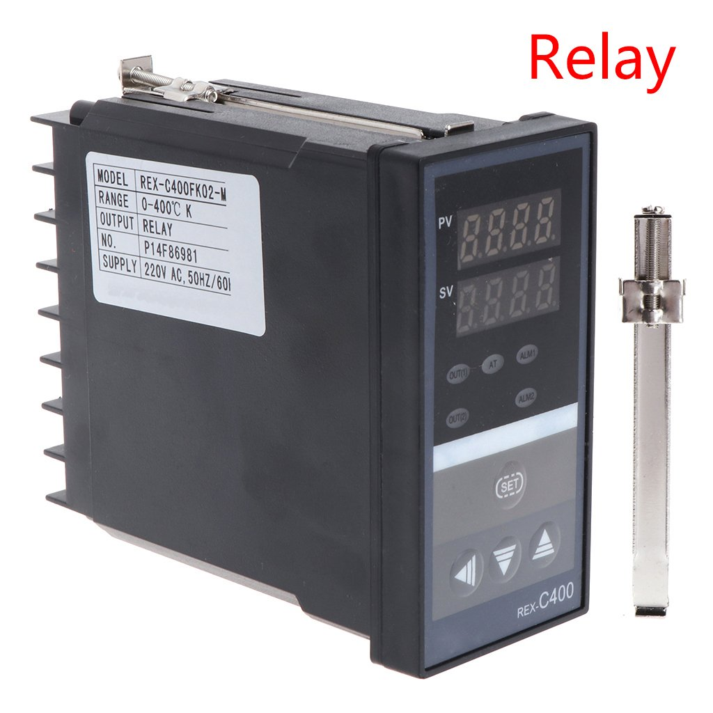 Qisuw PID Digital Temperature Controller- RKC REX-C400 Universal Input Relay Output Vertical for Automatic Packing Machine Thermostat (Relay)