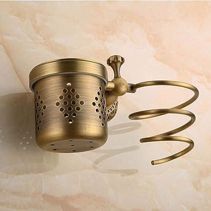CF Secador de Pelo Europeo Todo Cobre Retro baño secador de Pelo Accesorios para baño secador