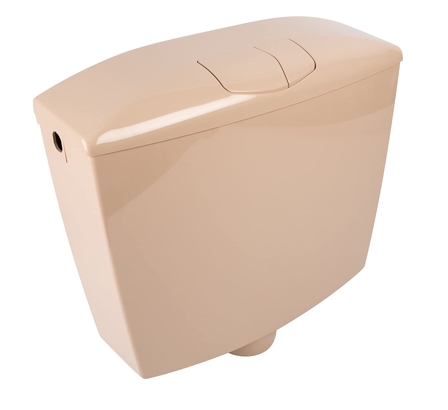 Beige Opal Cistern   Plastic   Flush and Stop Button, 21044 7