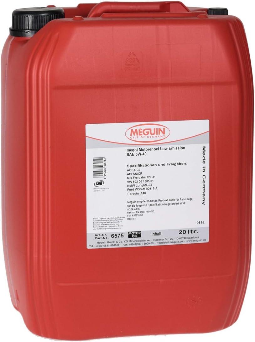 Meguin 6575 Megol Low Emission Motorenöl Sae 5 W 40 20 L Auto