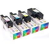 Workplus(TM) 4 Paquetes Premium Compatible con Xerox phaser 6020, 6020V, 6020BI, 6022, 6022V, 6022NI, WorkCentre 6025, 6025V, 6025BI, 6027, 6027V, 6027NI cartuchos de tóner (KCMY)