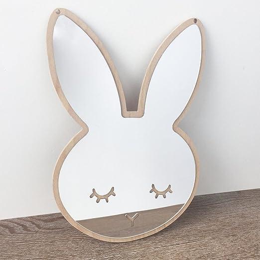 3D Stickers muraux de miroir de miroir, Etopfashion Bunny bricolage  acrylique Stickers muraux pour bébé chambre d\'enfant décor de chambre