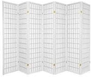 3-10 Panel Room Divider Square Design White (7 Panel)