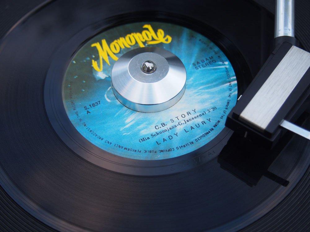 Aluminio - 45 rpm - 7 - Adaptador de cúpula de discos de vinilo ...