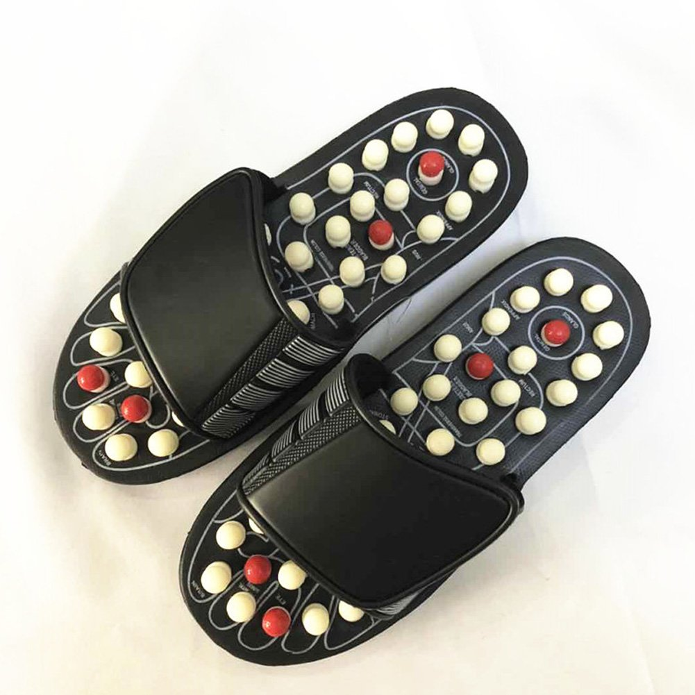 2100d1f0a891 Amazon.com  Acupressure Foot Massage Ball Slippers Shoes ...