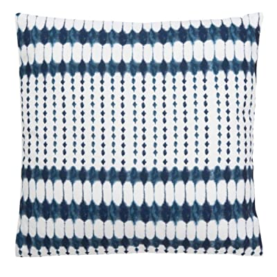 Safavieh Kenza 18-inch Navy and White Indoor/Outdoor Decorative Throw Pillow: Home & Kitchen