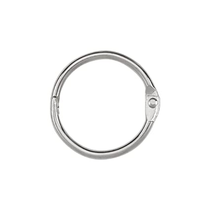 amazon com acco loose leaf binder rings 1 inch capacity silver