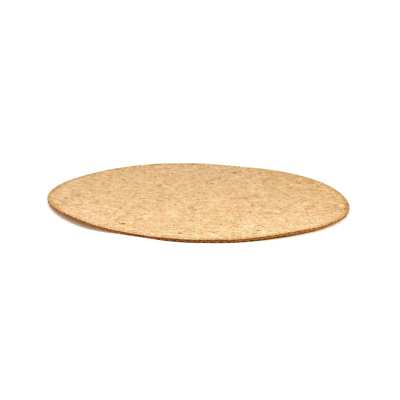 COM-FOUR/® 4x Tovaglietta in sughero con base in feltro /Ø 35 cm base rotonda 04 pezzi - /Ø 35 cm