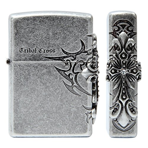 Zippo Tribal Cross Side Nickel アメリカ製ライター/本物とオリジナルパッキング [並行輸入品] B01A06GMBO