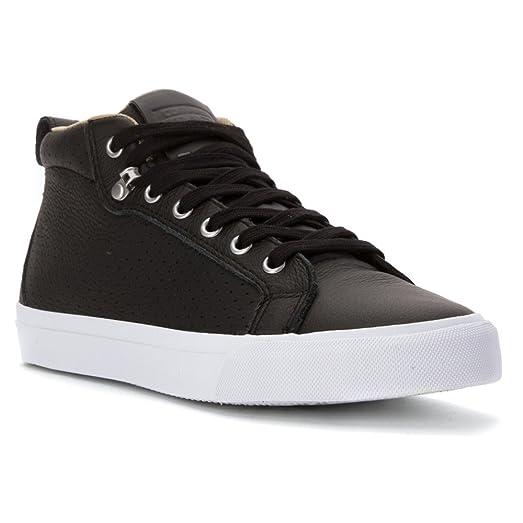 Converse Men's All Star Fulton High Top Leather Black/Sandy/White ...