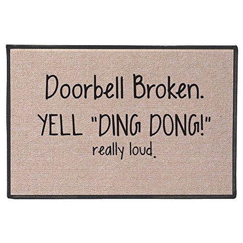 SIGNALS Doorbell Broken Yell Ding Dong! Really Loud Doormat...