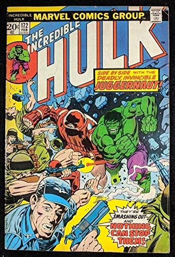 Incredible Hulk (1968) #172 VG/FN (5.0) along side Juggernaut