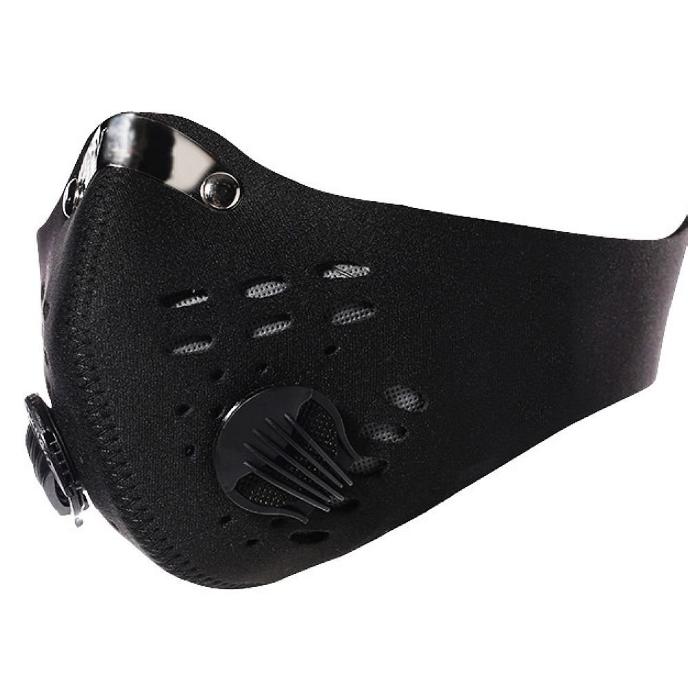 DLP Tactical Hostile Environment Cycling / Running / Training Carbon Filtration Neoprene Face Mask (Black)