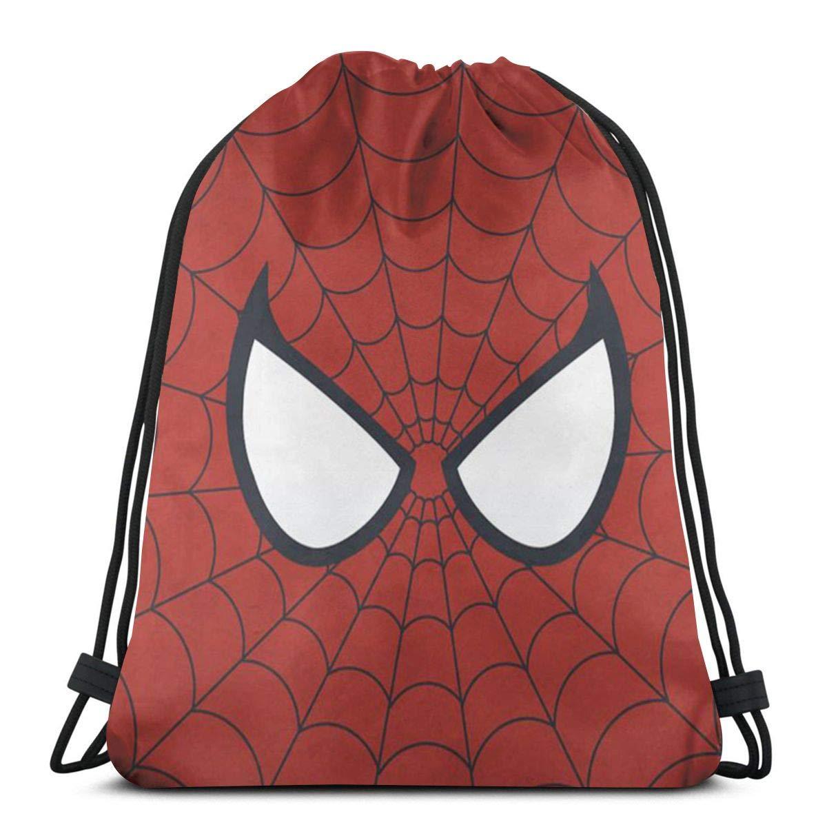 MPJTJGWZ クラシック巾着バッグ スパイダーマン ジム バックパック ショルダーバッグ スポーツ収納バッグ 男女兼用 B07QNTPF8B