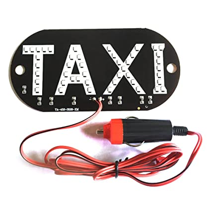 new arrival 014ad e68cb Amazon.com: Ocamo Car LED Light, 12V Taxi Cab Windscreen ...
