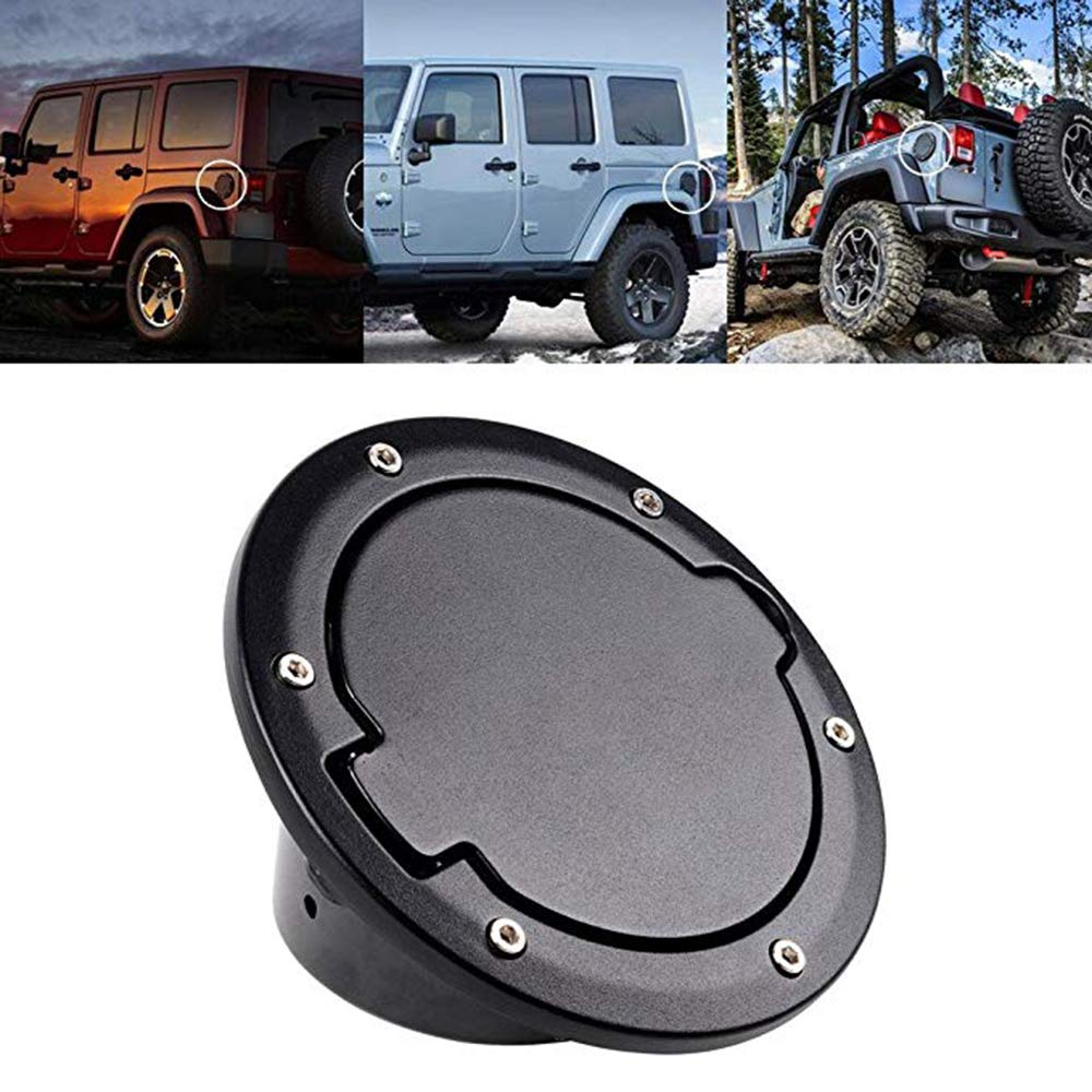 Tuhoomall Fuel Filler Door Cover Gas Tank Cap For 2007 2017 Jeep
