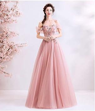 Smwd Vestido Novia Rosada Casada Toast Ropa Cena Vestido