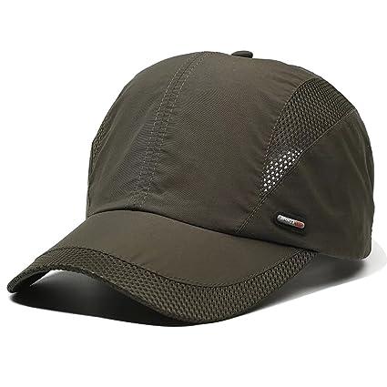 2d65a68bf39 Amazon.com  LAOWWO Sun Hat Running Golf Cap Hat Quick Dry Mesh ...