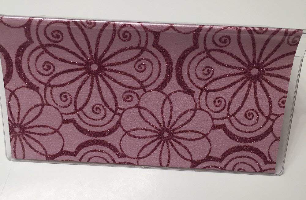 Bright Floral Leather Cover for Duplicate Checks