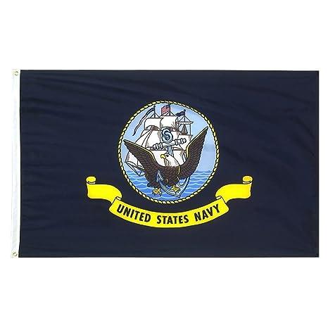 4f628e1e0db Amazon.com   3 x 5 US Navy Flag - Nylon - 100% American Made ...