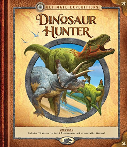 Ultimate Expeditions: Dinosaur Hunter: Includes 70 pieces to build 8 dinosaurs, and a removable (Tyrannosaurus Diorama)