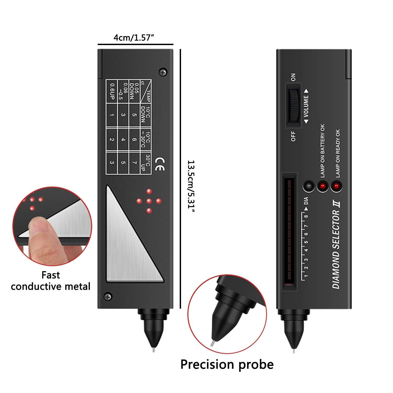 StillCool detector de diamantes Selector II V2 Digital probador de la piedras joyer/ía portable Estuche