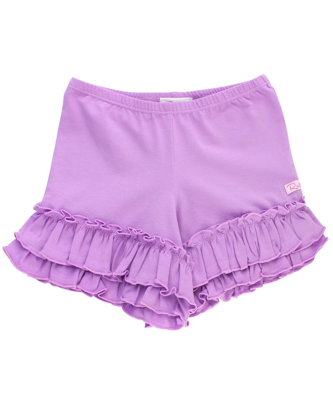 RuffleButts Little Girls Flowy Short w/Ruffle Trim - Lilac - 5