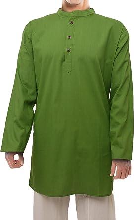 Kurta india unisex de algodón (camisa/blusa larga), tailla ...