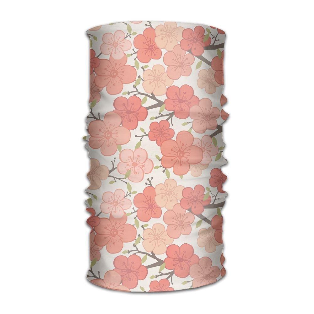 Magic Headwear Pink Flowers Outdoor Scarf Headbands Bandana Mask Neck Gaiter Head Wrap Mask Sweatband