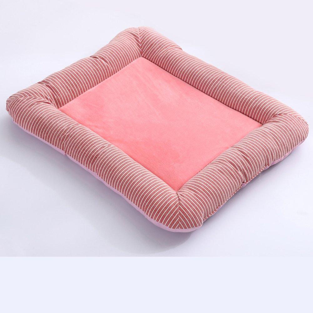 DSAQAO Plush pet dog bed cushion, Square Pet supplies Basket bed cushion-B XL 80x65cm(31x26inch)