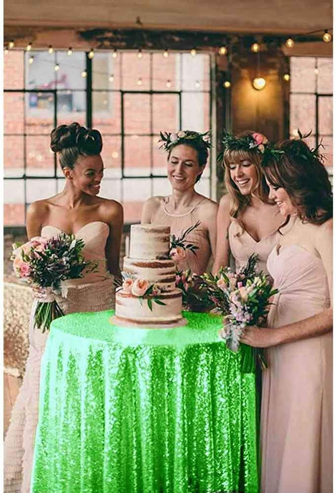 LYLYCTY Green-Sequin Photo Backdrop Party/Prom Photography Backdrop Wedding Photo Booth Photography Background 4x7ft LY182