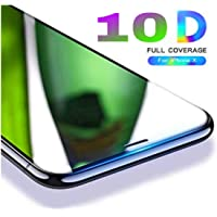 Aeidess 10D Edge to Edge Screenguard Tempered Glass for iPhone Xs/X (Black)
