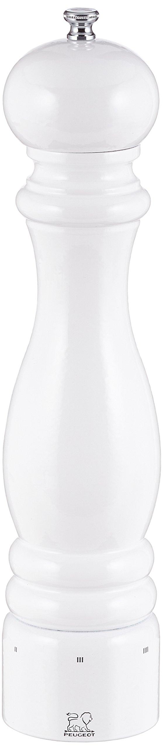 Peugeot 27858 Paris U'Select 12-Inch Salt Mill, White Lacquer