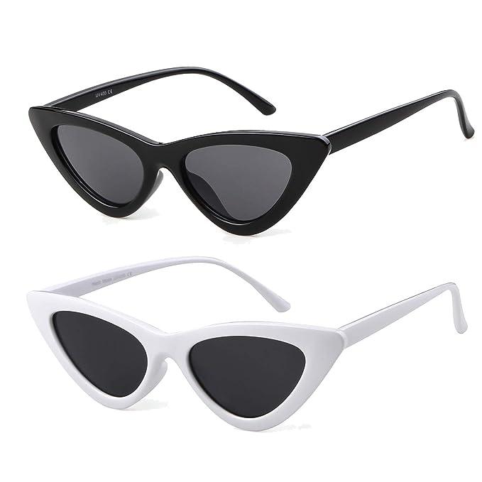 8e5bdb7c60 ADEWU Occhiali di Protezione Occhiali da Sole da Donna Occhio di Gatto  Retro Vintage Stile