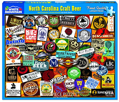 White Mountain Puzzles North Carolina Craft Beer - 1000 Piece Jigsaw Puzzle