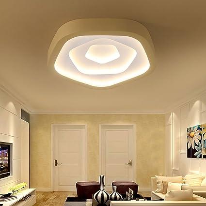 LOFAMI Modern LED Bedroom Ceiling Light Side Luminous Chandelier Restaurant  Living Room Ceiling Light (Color