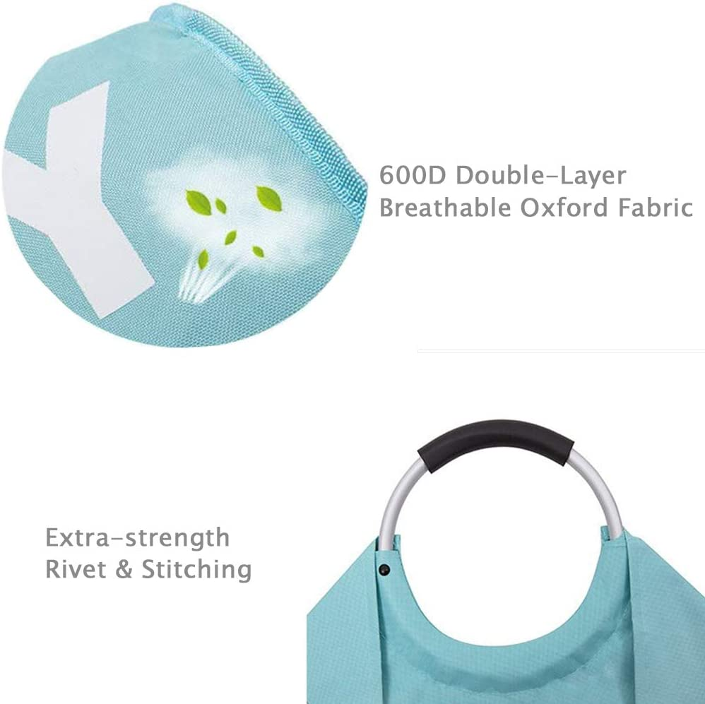 Closet Easy-to-Carry Portable Tote Bag for Dorm Light Blue, Large//82L Storage SweetMemo Premium Collapsible Laundry Hamper with Comfortable Handles Foldable Waterproof Fabric Laundry Basket