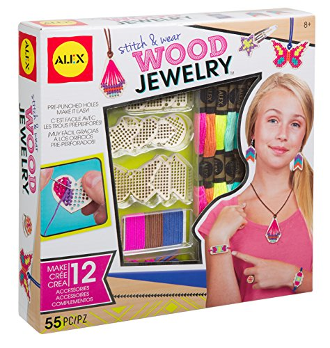 ALEX Toys DIY Wear Stitch & Wear Wood Jewelry ()