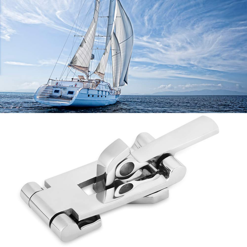 KIMISS Cierres de pestillo anti-traqueteo para Yate Barco de marino Abrazadera de cierre de puerta con cerradura