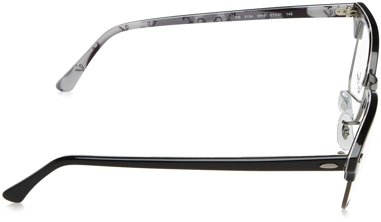 395479ac7641f Amazon.com  Ray-Ban Clubmaster No Polarization Square Prescription Eyewear  Frame