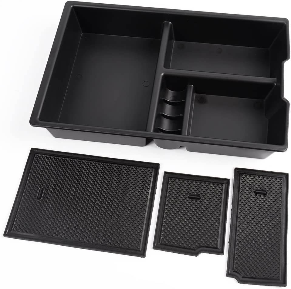 Coin Holder Full Console w//Bucket Seats ONLY Moonlinks Center Console Organizer for 2009-2018 Dodge RAM 1500 /& 2010-2018 RAM 2500//3500,Storage Box Armrest Secondary Tray