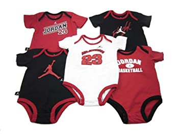 171c4ad119e69c Image Unavailable. Image not available for. Color  5 Pack Air Jordan 23  Jumpman Bodysuits ...